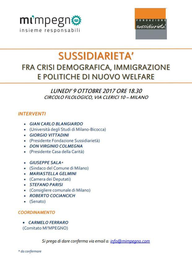 convegno 9 ottobre 2017 sussidiarieta` rev