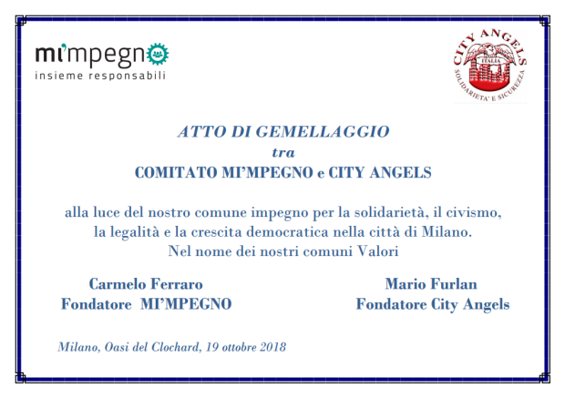 Pergamena gemellaggio city angels